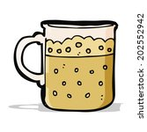 cartoon mug of beer | Shutterstock .eps vector #202552942