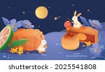 happy mid autumn festival... | Shutterstock .eps vector #2025541808