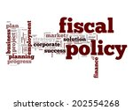 fiscal policy word cloud | Shutterstock . vector #202554268