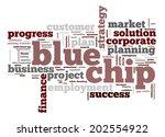 blue chip word cloud | Shutterstock . vector #202554922