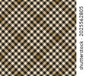 plaid pattern in gold brown ... | Shutterstock .eps vector #2025562805