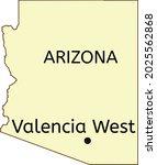 valencia west census designated ... | Shutterstock .eps vector #2025562868