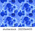 Floral Seamless Pattern. Blue...