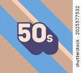 50s logo design. 1950s sign...   Shutterstock .eps vector #2025577532