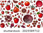 red. vector food. colored...