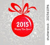 2015 happy new year greeting... | Shutterstock .eps vector #202561096