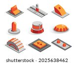 isometric or 3d various buttons ... | Shutterstock .eps vector #2025638462