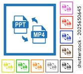 ppt mp4 file conversion flat...   Shutterstock .eps vector #2025650645