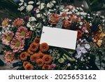 moody feminine wedding ... | Shutterstock . vector #2025653162