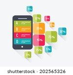 mobile info graphics design...