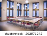 meeting room in ministry office  | Shutterstock . vector #202571242