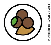 falafel icon isolated vector... | Shutterstock .eps vector #2025841055