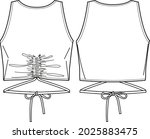 vector summer tank top fashion... | Shutterstock .eps vector #2025883475