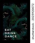 dark summer tropical background ... | Shutterstock .eps vector #2025920072