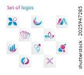 vector business set of abstract ... | Shutterstock .eps vector #2025947285