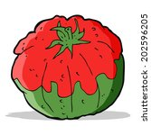 cartoon tomato   Shutterstock .eps vector #202596205