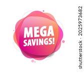 mega savings vector shopping...   Shutterstock .eps vector #2025973682