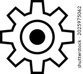 flat icon of gear symbol. part...