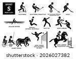 sport games alphabet s vector... | Shutterstock .eps vector #2026027382