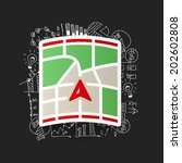 drawing business formulas ... | Shutterstock .eps vector #202602808