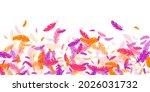 orange purple red feather... | Shutterstock .eps vector #2026031732