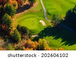 Aerial View In The Autumn Of...