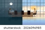 working all time in day and... | Shutterstock .eps vector #2026096985