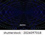 abstract flowing line digital...   Shutterstock .eps vector #2026097018