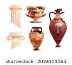 broken ancient vases and greek... | Shutterstock .eps vector #2026121165