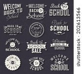back to school calligraphic... | Shutterstock .eps vector #202613566