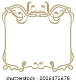 art nouveau frame gold color on ...   Shutterstock .eps vector #2026172678