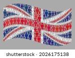 mosaic waving united kingdom... | Shutterstock .eps vector #2026175138