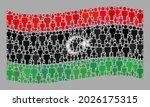 mosaic waving libya flag... | Shutterstock .eps vector #2026175315