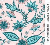 flower chintz indian pattern... | Shutterstock .eps vector #2026175375