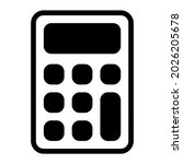 calculator icon with glyph...