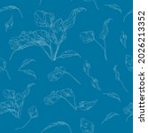 beautiful endless gentle floral ...   Shutterstock .eps vector #2026213352