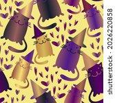 vector seamless pattern cartoon ... | Shutterstock .eps vector #2026220858