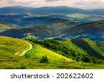 Mountain Range Summer Landscap...