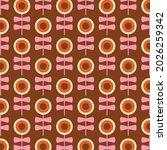 70's retro seamless pattern.... | Shutterstock .eps vector #2026259342