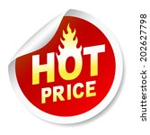 hot price sticker badge with... | Shutterstock .eps vector #202627798