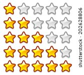 vector game web rating stars...