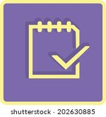 flat icon of notes | Shutterstock .eps vector #202630885