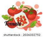 pickled tomatoes vegetables...   Shutterstock .eps vector #2026332752