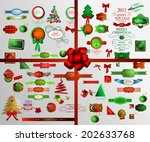 christmas icons set and element   Shutterstock . vector #202633768