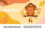 oktoberfest banner design with... | Shutterstock .eps vector #2026353425