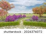 Garden Design With Flowering...