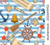 nautical seamless pattern | Shutterstock . vector #202644952