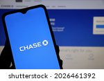 Small photo of Bahia, Brazil - April 16, 2021: Chase bank logo on smartphone screen. Chase Bank is the consumer banking division of JPMorgan Chase.