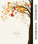Autumn Background With Tree...