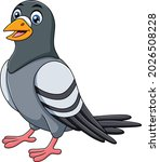 cute pigeon bird cartoon vector ...   Shutterstock .eps vector #2026508228